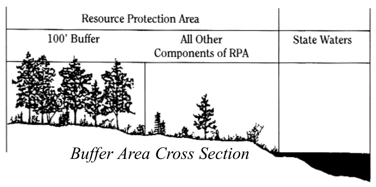buffer-area-cross-section