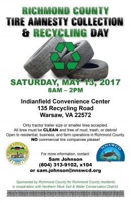 Richmond County Tire Amnesty Day