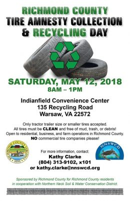 Richmond County Tire Amnesty Collection and Recycling Day