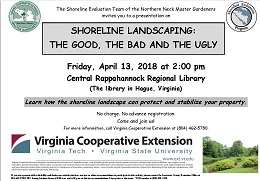 Shoreline Landscaping Presentation – April 13 and June 8, 2018