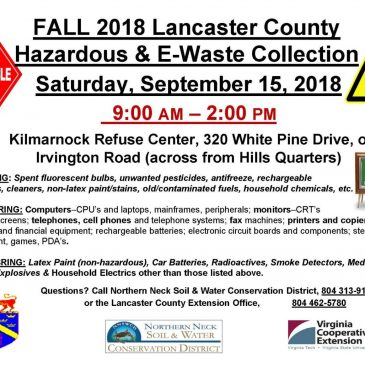Lancaster County Household Hazardous Waste/E Waste Event
