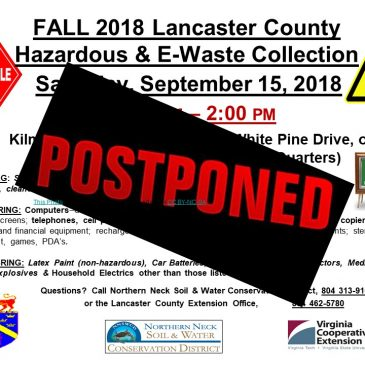 POSTPONED:  LANCASTER Household Hazardous Waste Collection