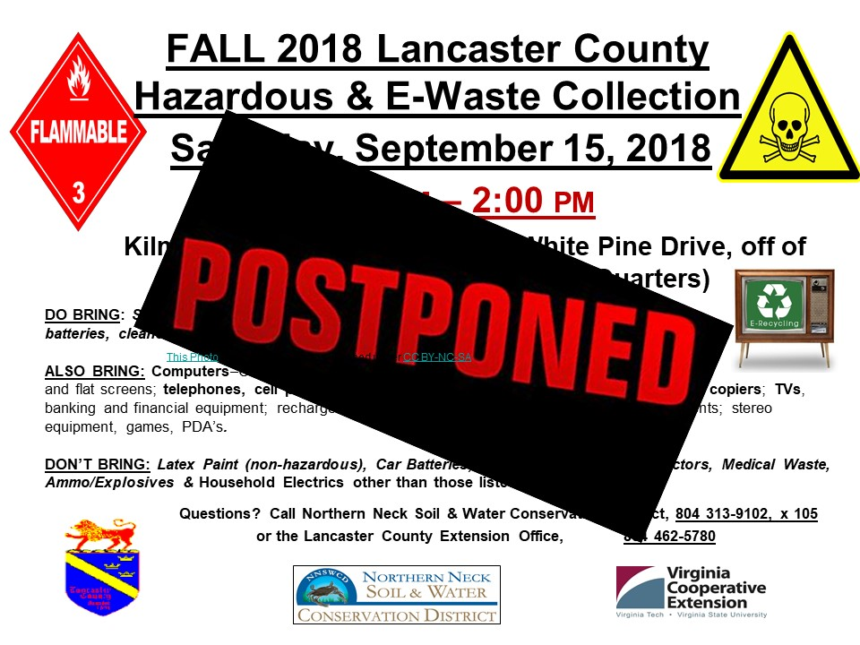 POSTPONED: LANCASTER Household Hazardous Waste Collection – Northern