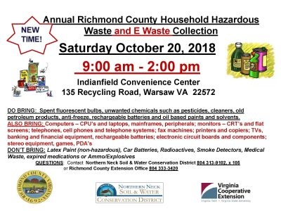 Richmond County Adds Electronics to HHW Collection