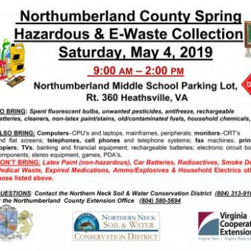 Reminder! Northumberland Hazardous Waste this Saturday