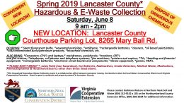 Lancaster County Hazardous Waste and Electronics Waste Collection June 8 at the Courthouse Parking Lot