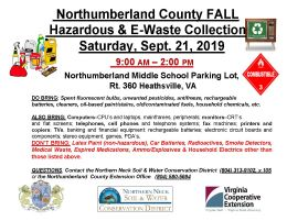 Northumberland County FALL Hazardous Household Waste Collection