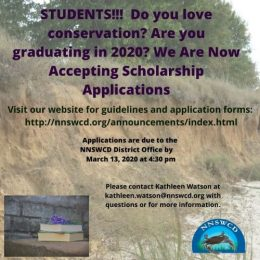 NN Soil and Water Conservation District Scholarship Deadline March 13