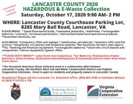 Essential Information for the Lancaster 2020 HHW Event