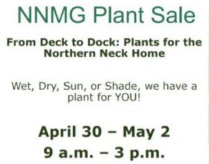 Northern Neck Plant Sale – April 30 – May 2, 2021