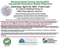 Westmoreland County Household Hazardous Waste Event April 24