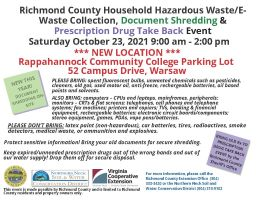 Richmond County Hazardous Waste Collection 10/23